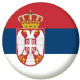 Serbia Country Flag 25mm Keyring